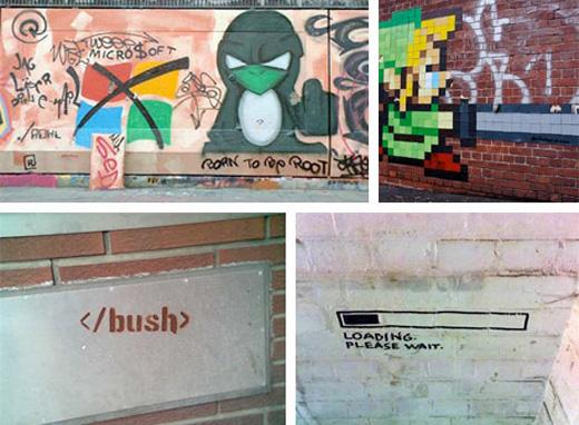 graffiti street art tech geek