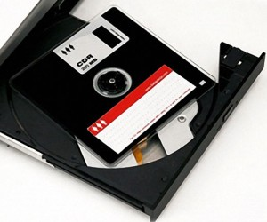 Obsolote Floppy Disk Becomes Equally Obsolete CD-R Disc