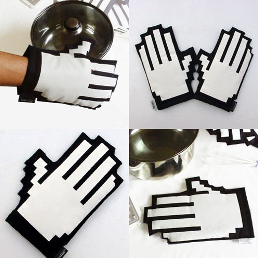 clicking oven gloves