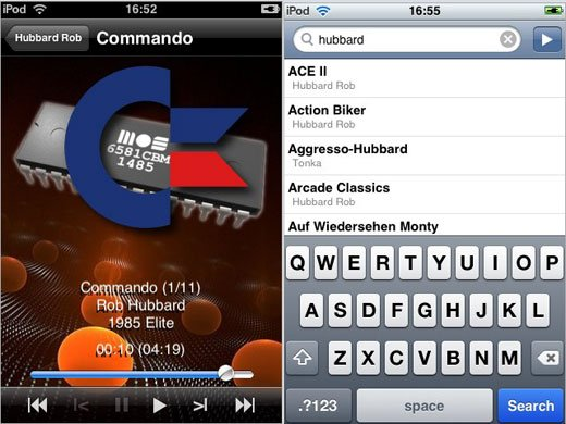 c64 iphone sid player 8-bit chiptune 6581