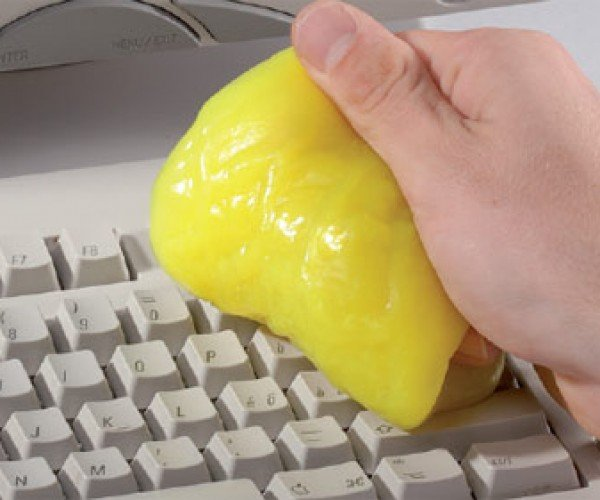 Cyber Clean Your Keyboard With Yellow Goo