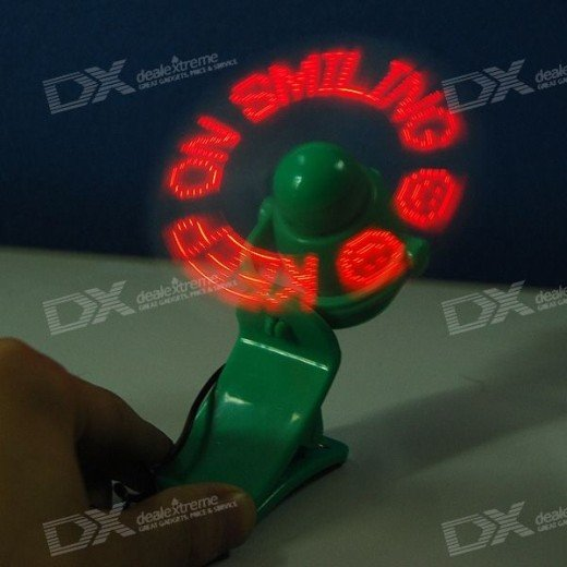 led pov persistence of vision fan