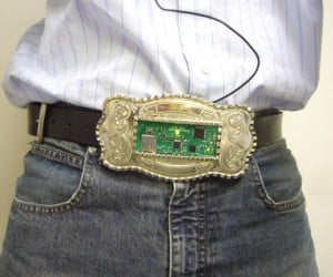 Mp3 Belt Buckle Perfect for Wrestlers, Truck Drivers