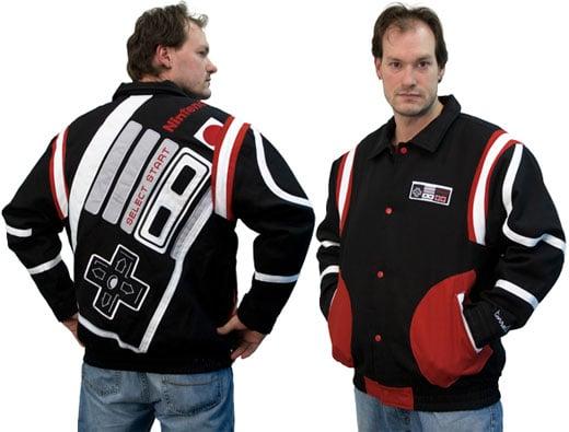 nes controller varsity jacket 8-bit nintendo collectible clothing