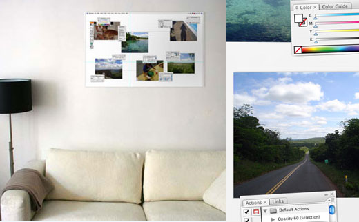 photoshop magnetic photo board w
