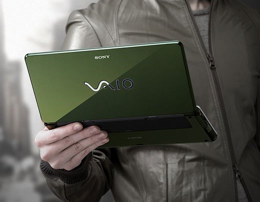 sony vaio p-series p90 umpc portable mobile pc windows vista green