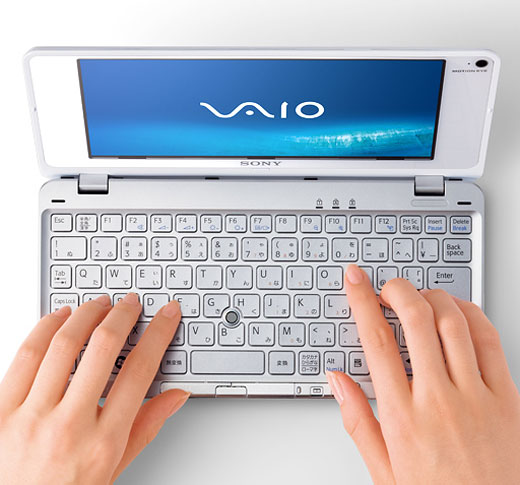 sony vaio p-series p70 p90 umpc portable mobile pc windows vista white