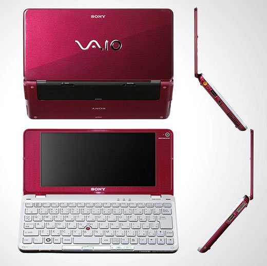 sony vaio p-series p90 umpc portable mobile pc windows vista red