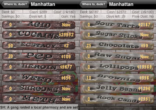 iphone ipod touch candy wars dope wars catamount software app store