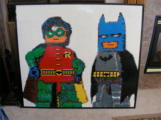 lego batman robin mosaic brickwares