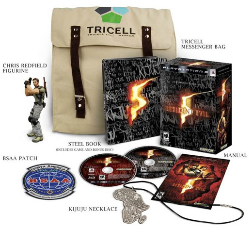 resident evil 5 collector's edition bundle capcom zombies