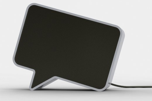 speak-er speaker speech bubble design