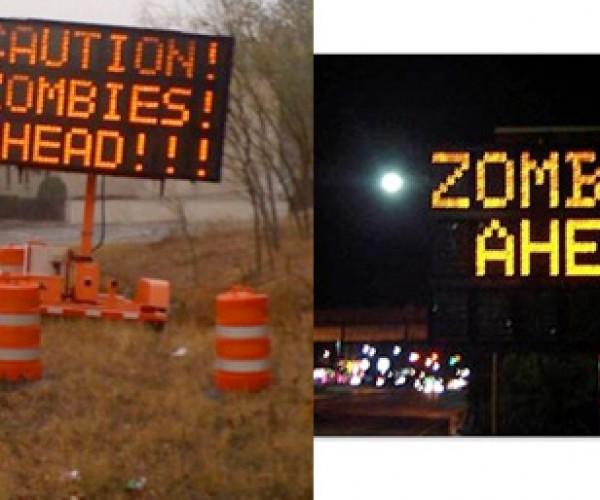 Austin Pranksters Hack Signs, Warn of Zombies