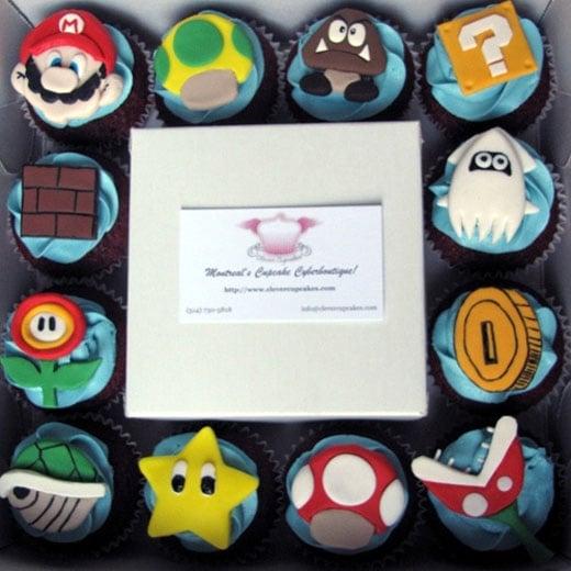 mario cupcake snack goomba clevercupcakes