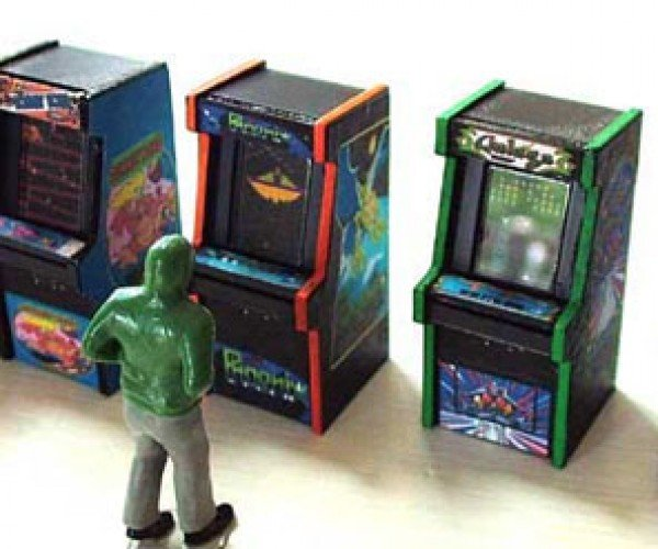 Tiny Arcade Cabinets for O-Scale Model Railroads, O-My.