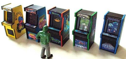 Tiny Arcade Cabinets for O-Scale Model Railroads, O-My. - Technabob
