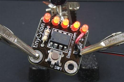 tiny cylon battelstar galactica kit led make
