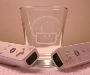 1up Mushroom Glass Perfect for a Pick Me Up