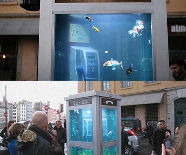 Aquarium Phone Booth: Fish Gotta Make Calls Too