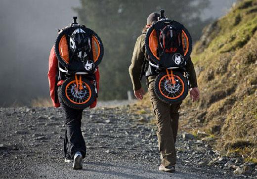 bergmonch folding bicycle backpack portable hiking biking