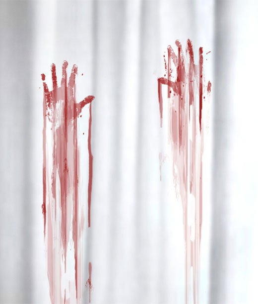 bloody shower curtain 2