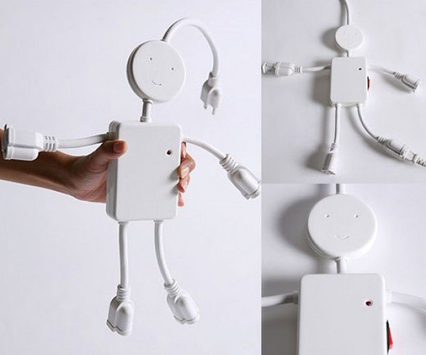 Electric Man Power Strip: This Little Guy Actually Enjoys 110-Volts Running Through His Body at All Times