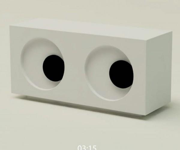 Googly Eyeball Clock: It'S Eye Time.