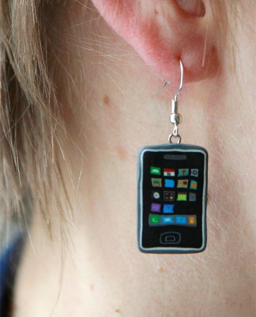 iphone 3g fimo clay earrings barb feldman etsy