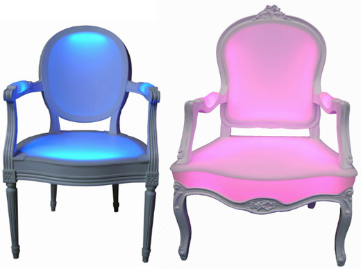 Incredible Led Chairs Light Up Your Backside With Color Interior Design Ideas Oteneahmetsinanyavuzinfo