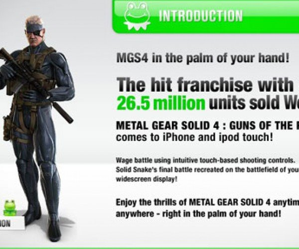 Metal Gear Solid Touch Website: Fun in More Ways Than One
