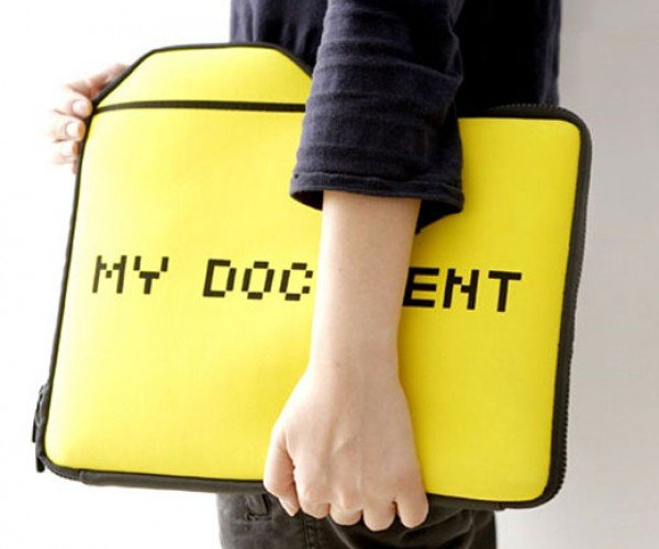 Computer Folder Laptop Case Holds Only a Single Document