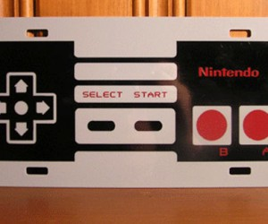 NES 8-Bit Controller License Plate Only Valid in the Mushroom Kingdom or on Mario Karts