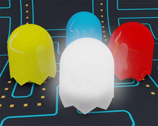 pac-man ghost lamps brazil anderson horta 1980s