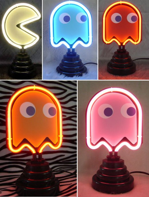 pac man neon lights