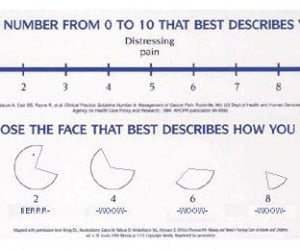 Pac-Man Pain Assessment Chart: Maybe You'D Feel Better if You Ate Some Cherries and Pretzels?