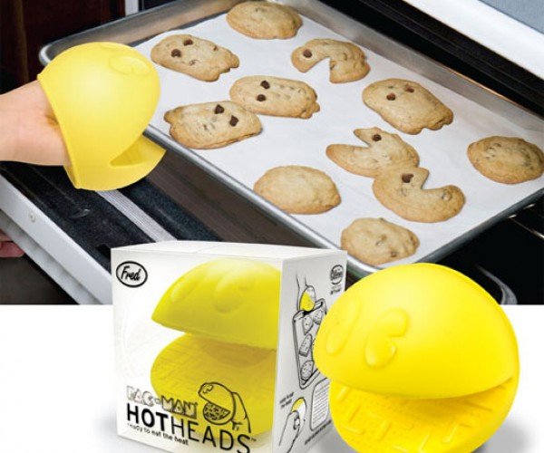 Pac-Man Oven Mitt for Grabbing Your Hot Wok-a-Wok-a-Wok-a