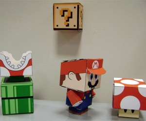 Papercraft Mario Characters Are Totally Cube-Ular