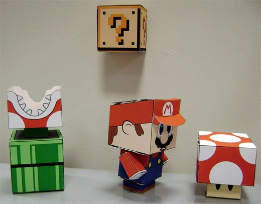 Papercraft Mario Characters
