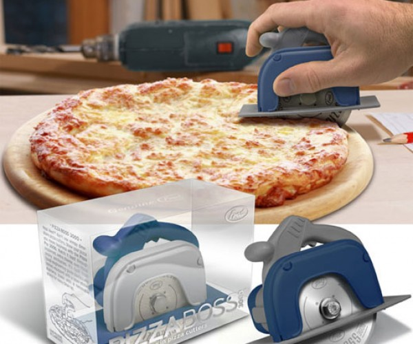 Pizza Boss 3000 Circular Saw Cuts the Cheese (and Crust)