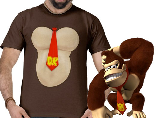 dk donkey kong ape t-shirt nintendo zazzle
