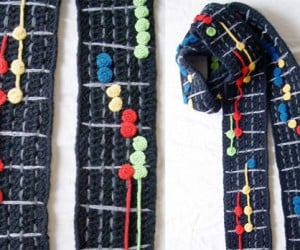Guitar Hero Scarf Produced by Crochet Hero