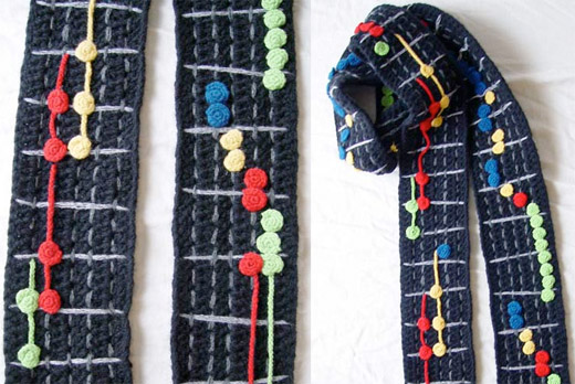 guitar hero scarf crochet