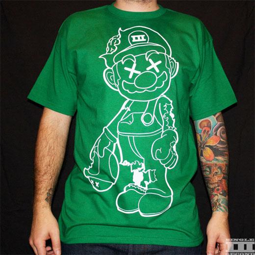 mario zombie shirt green nintendo