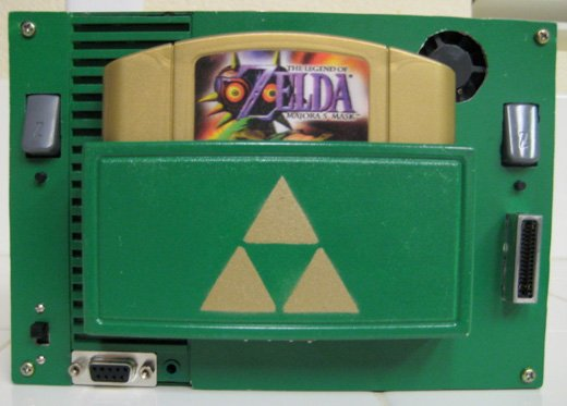 portable n64 zelda green diy mod