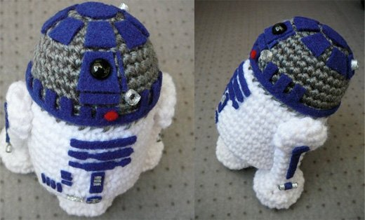 Free Crochet Patterns Amigurumi Star Wars : The Cutest Crochet R2-D2 You Will See Today - Technabob