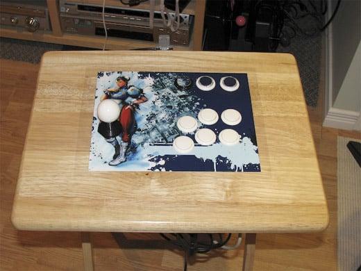 diy fighting stick arcade tray table