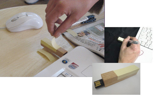 usb flash drive memory post it sticky note