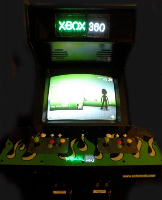 custom xbox 360 arcade machine cabinet