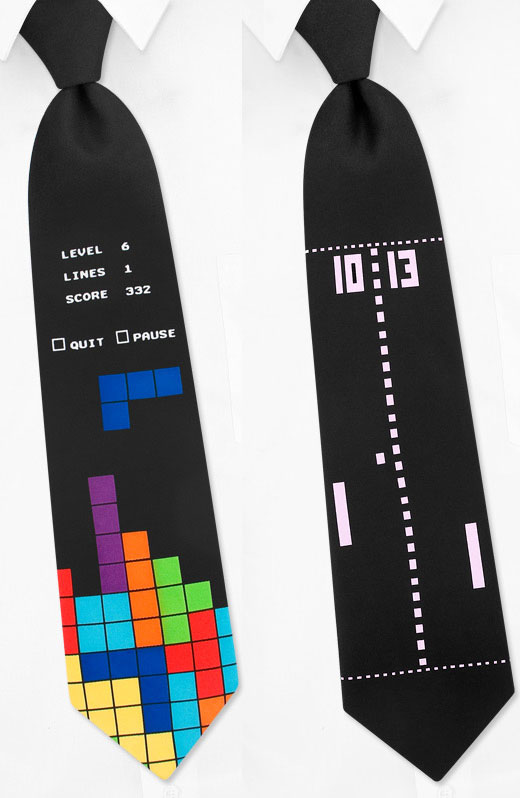 8-Bit Video Game Neckties Probably Won't Pass as Formalwear ...