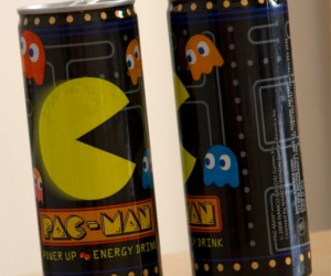 Pac-Man Energy Drink Perfect for Washing Down Power Pills, Pretzels, Strawberries and Ghosts